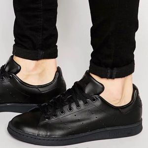 Adidas Stan Smith Black Leather Sneakers